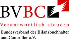 Logo BVBC Verantwortlich steuern Bundesverband der Bilanzbuchhalter und Controller e.V.